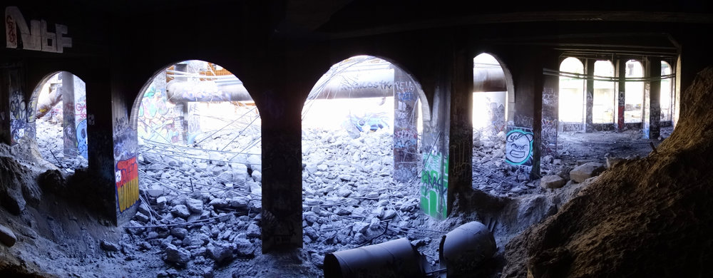 Catacombs under the old Riverside Drive bridge
