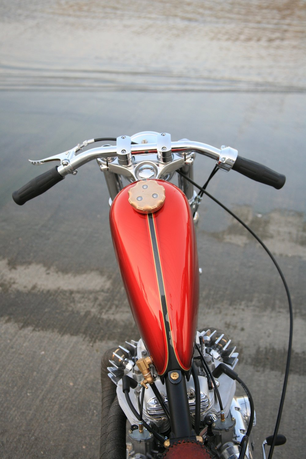 Front end of custom chopper