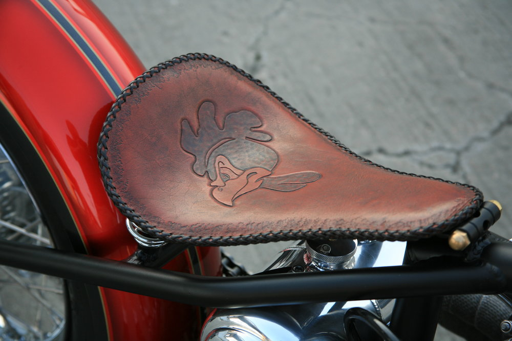 Seat on the custom chopper
