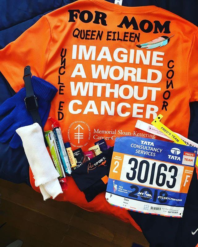 Race Ready 💪 #queeneileen @fredsteammskcc @nycmarathon #idoitformymomma