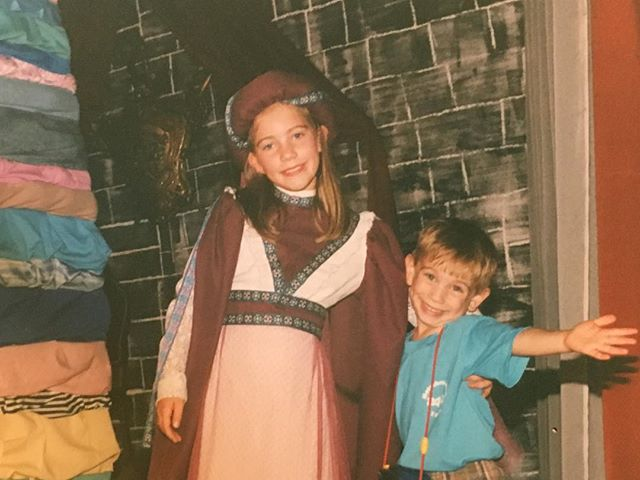last night someone asked me when I started acting.. well Once Upon A Time, I was in Once Upon a Mattress. I don't think i had any lines but dayumm look at that headpiece. @hampster1600 was clearly a big fan #theaterkid #theaternerd #ilooklikeprofessorquirrell #stunnah #imstillterrifiedofthatdirector