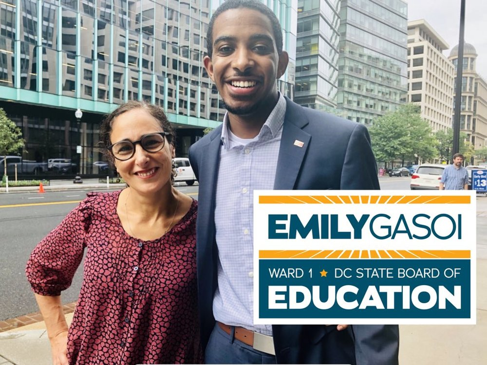 Rep. Markus Batchelor, DC State Board of Eduction, representing Ward 8 - Emily believes, like I do, in true equity for all students, strong neighborhood schools, & the transparency, accountability & control families deserve. Read more..