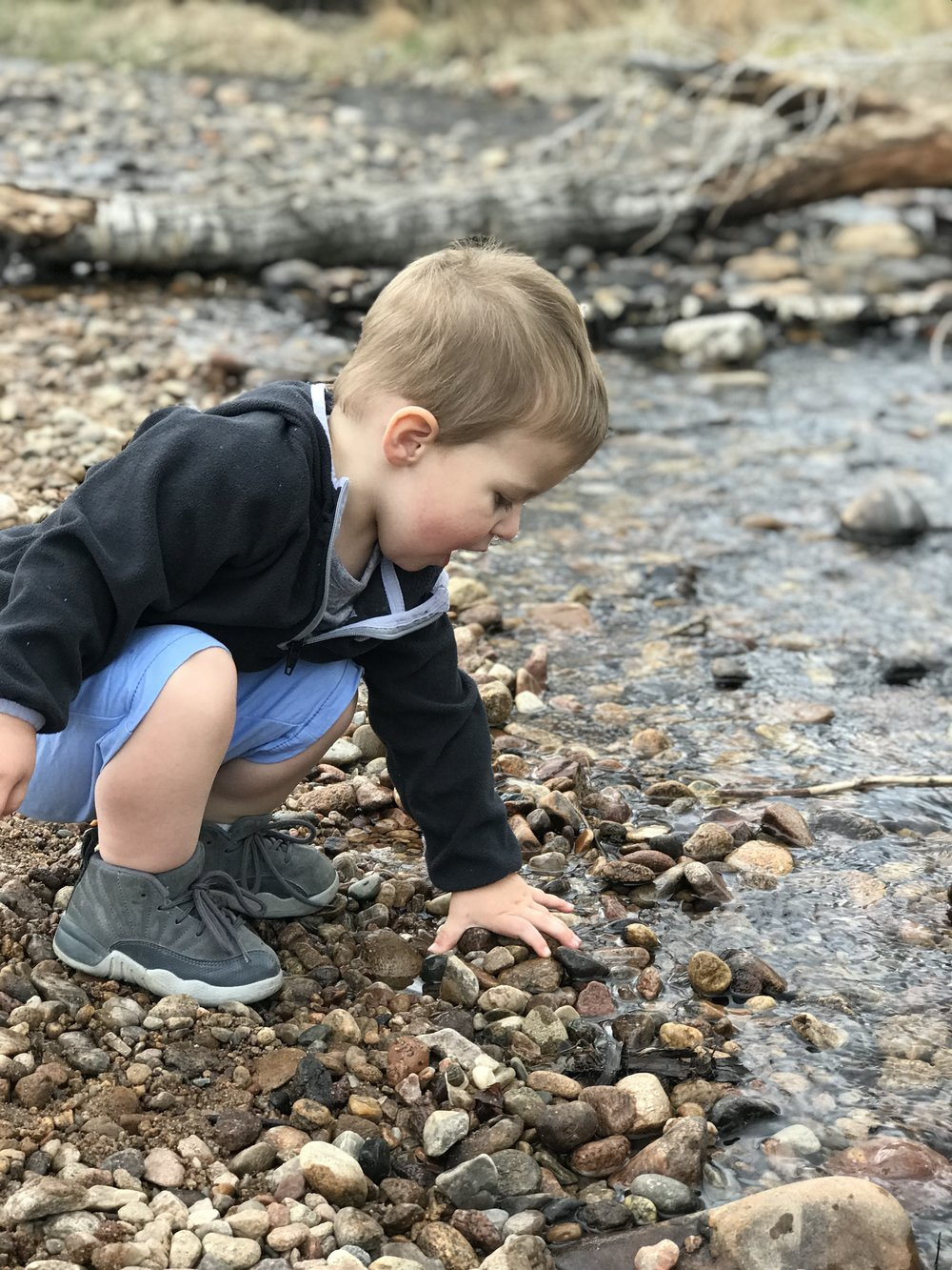 Lincoln loves to throw things.  How crazy is that? We stopped several times along the stream just to throw rocks. It's Always the Small things in life that can bring the most joy.