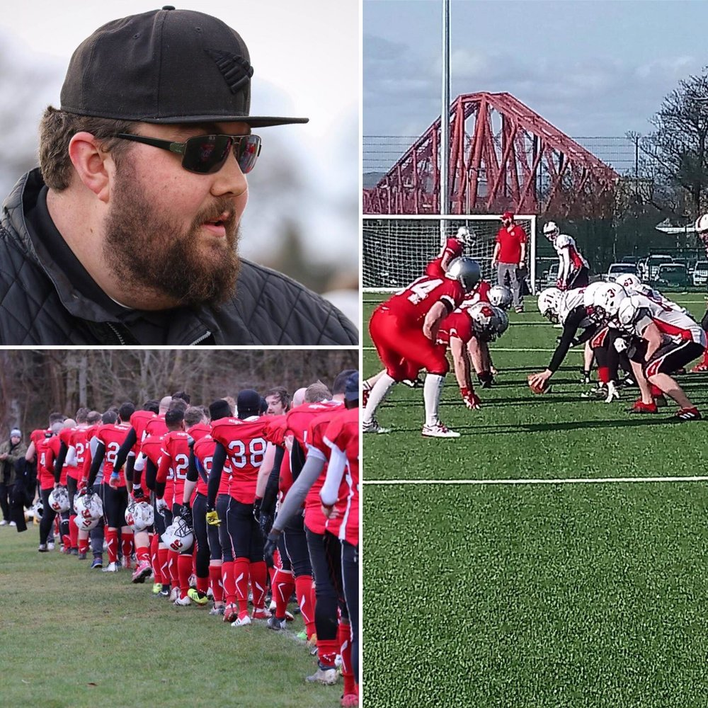 Head Coach Bryce Stevenson (top) and our two preseason outings vs Clyde Valley (bottom) and the Edinburgh Wolves (right)