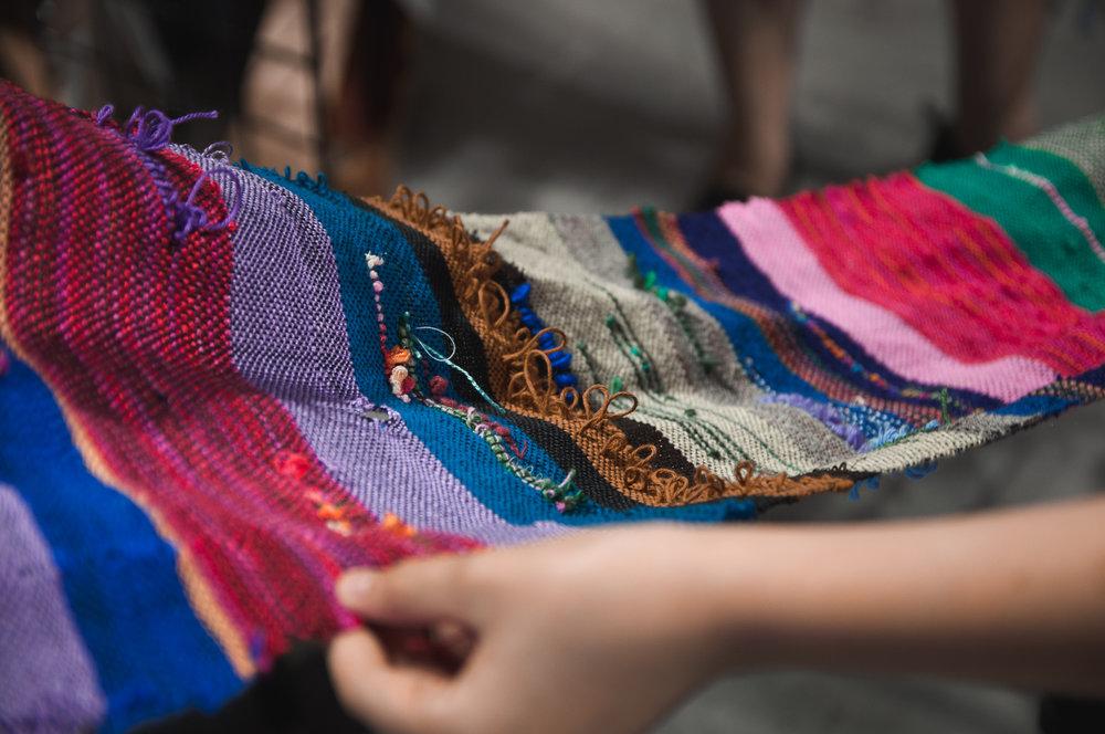 Weaving at Wimberley Valley SAORI booth