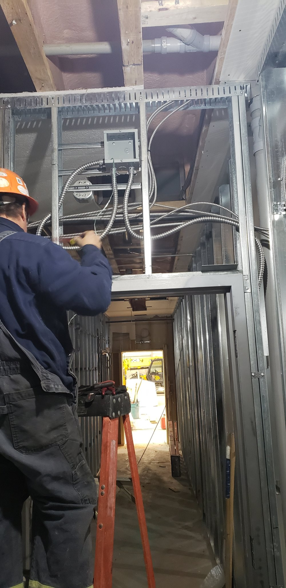 Second floor electrical installation