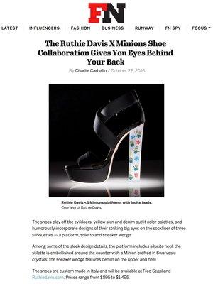 987d275e8f61 Footwear+News+-+Ruthie+Davis+ 3+Minions+-+Ruthie+