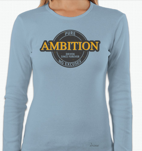 Women's Crew Neck Ambition Long Sleeve Tee, Carolina Blue