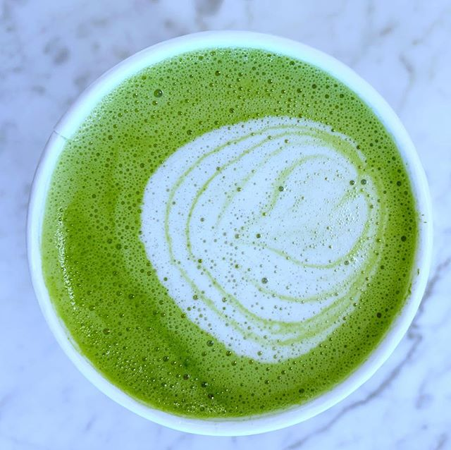 Matcha perfection on a frigid day 🍵❄️