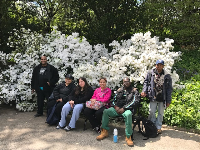 The gardening team visits Central Park's conservatory.