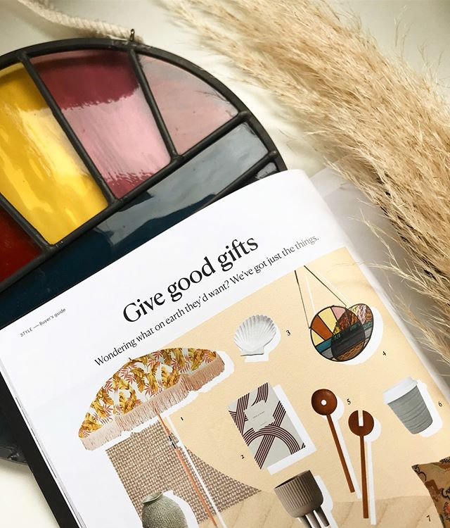 Spotted in @homestylemag today ☀️ the Soleil Suncatcher ☀️ these beauties are made to order so get in ASAP for Christmas! Thanks so much for the feature @homestylemag 💛
