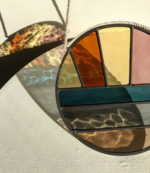 Another beautiful hand-made Soleil Suncatcher off to its new home this week ☀️🧡🐚 These glass pieces are usually made to order (but I currently have a Marrakech piece in stock ready to ship! 💕)