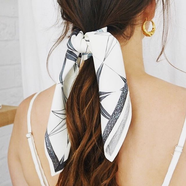 LOVE this image from @mindfulcocronulla of the Stargazer Silk Scarf ✨✨✨ alongside earrings by @flashjewellery ⚡️ Aussie babes check out @mindfulcocronulla - our exclusive AU stockist! 💛
