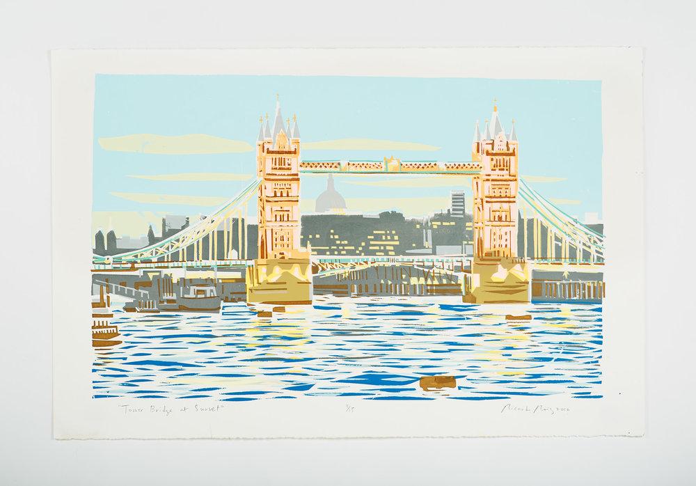 """Tower Bridge at Sunset"" 2016"