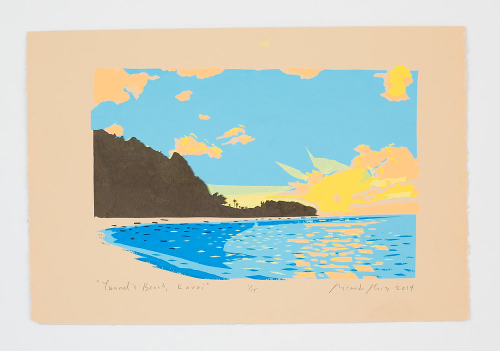"""Tunnel's Beach, Kauai"" 2014"