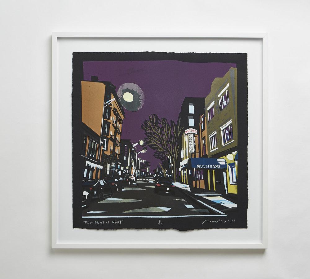 """First Street at Night"" 2017"