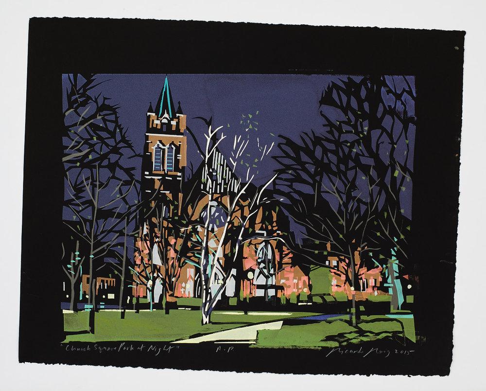 """Church Square Park at Night"" 2015"