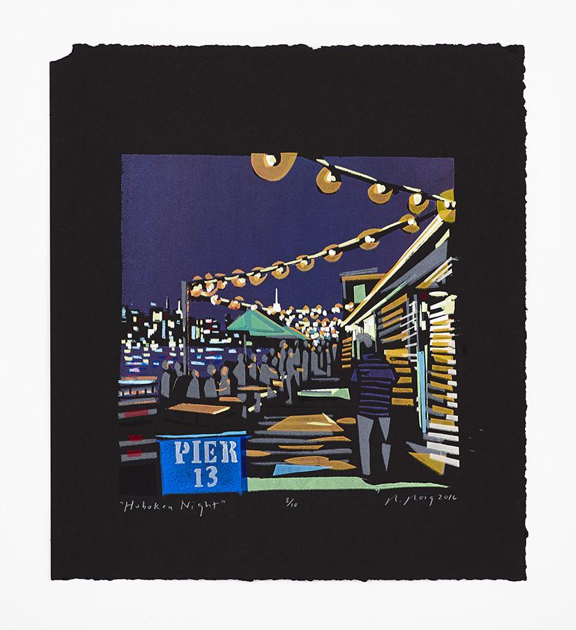 """""""Hoboken Night (Pier 13)"""" 2016"""