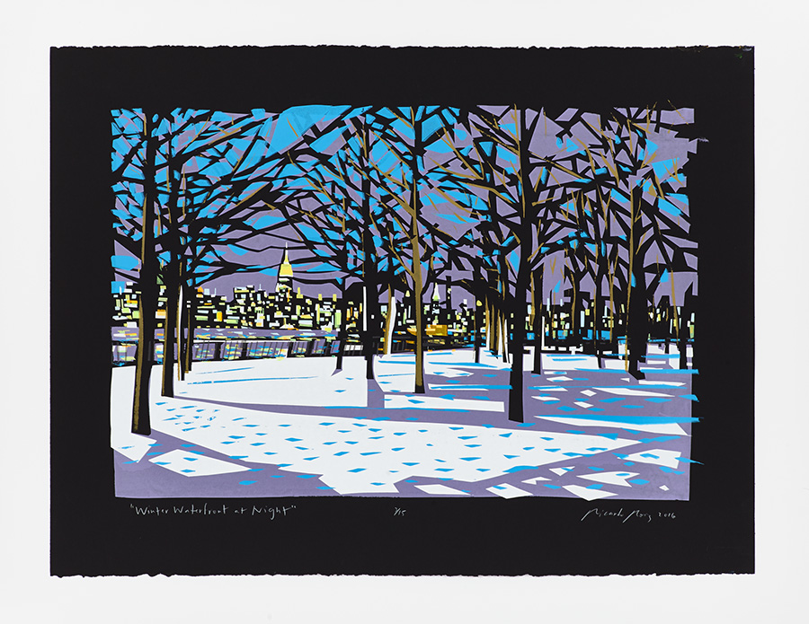 """Winter Waterfront at Night"" 2016"