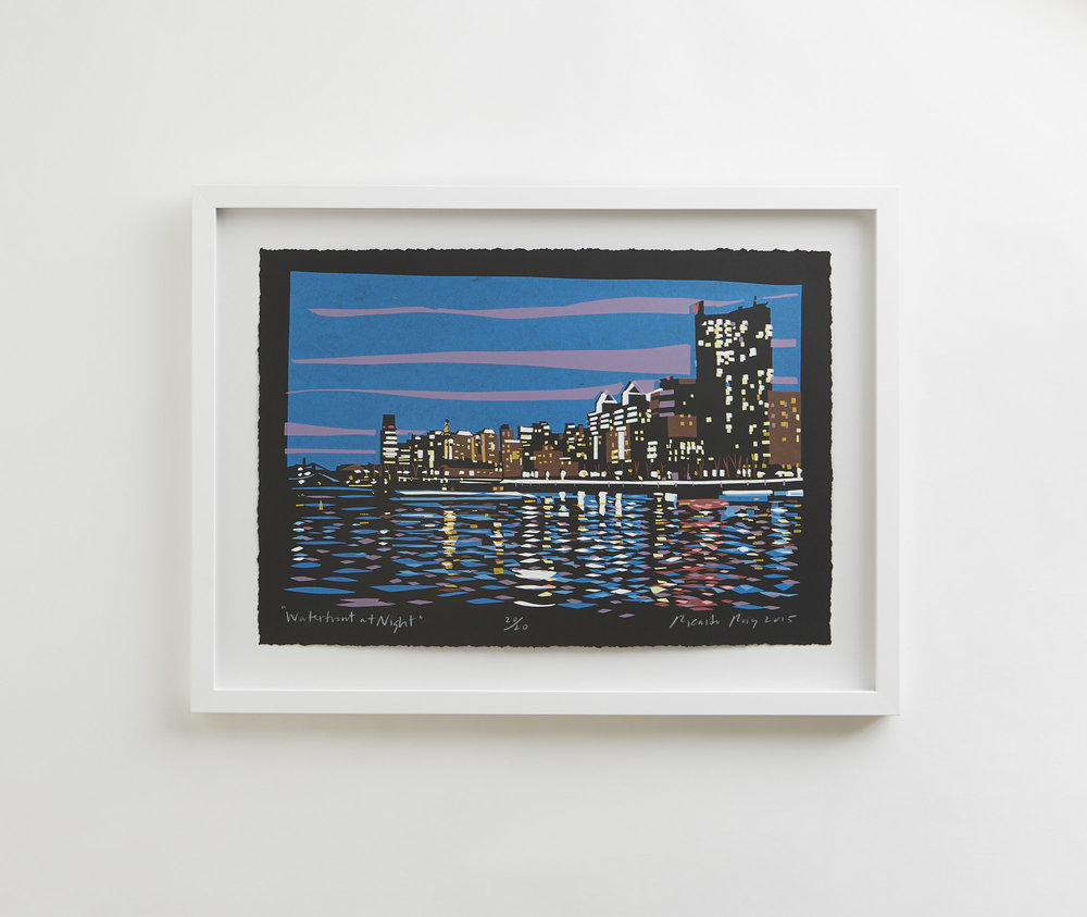 """Waterfront at Night"" 2015"