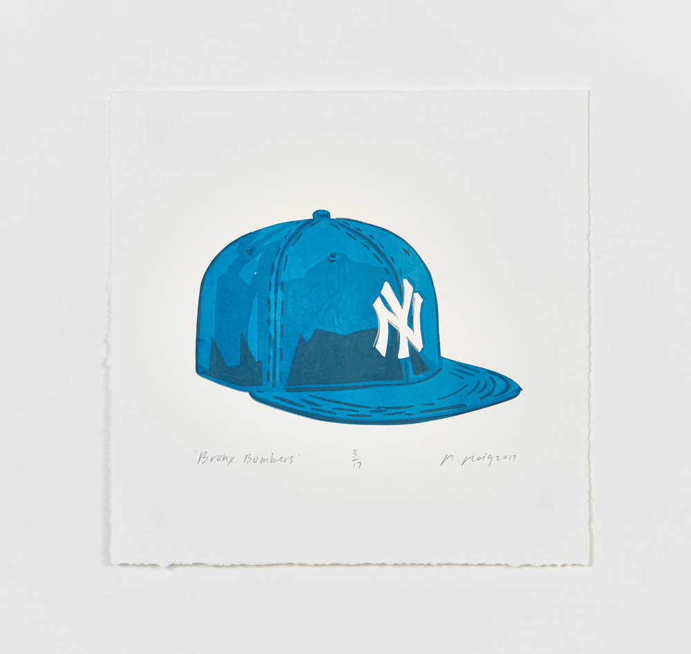 """Bronx Bombers"" 2017  15"" X 15"" Limited Edition of 17 Hand Cut Screen Prints"