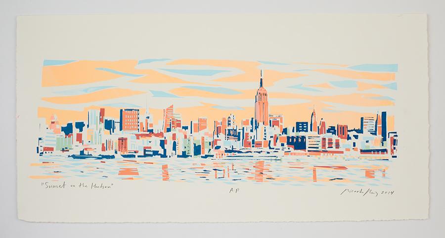 """Sunset on the Hudson"" 2014"