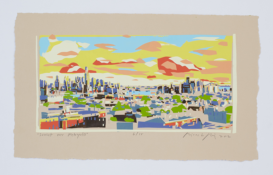 """Sunset over Metropolis"" 2012"