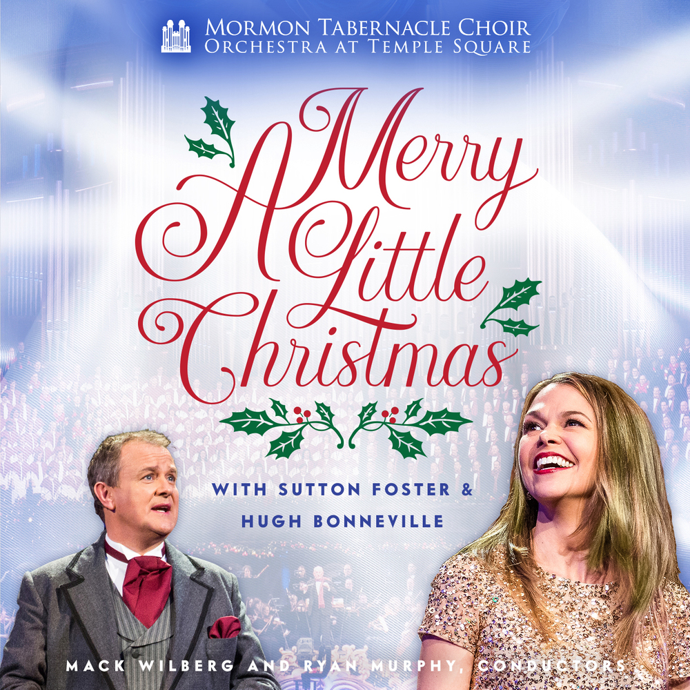 A Merry Little Christmas by The Tabernacle Choir album cover