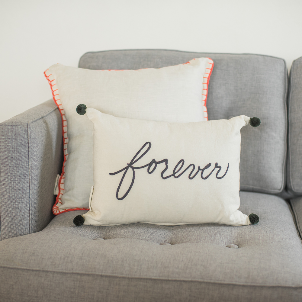 Forever Stitched Pillow