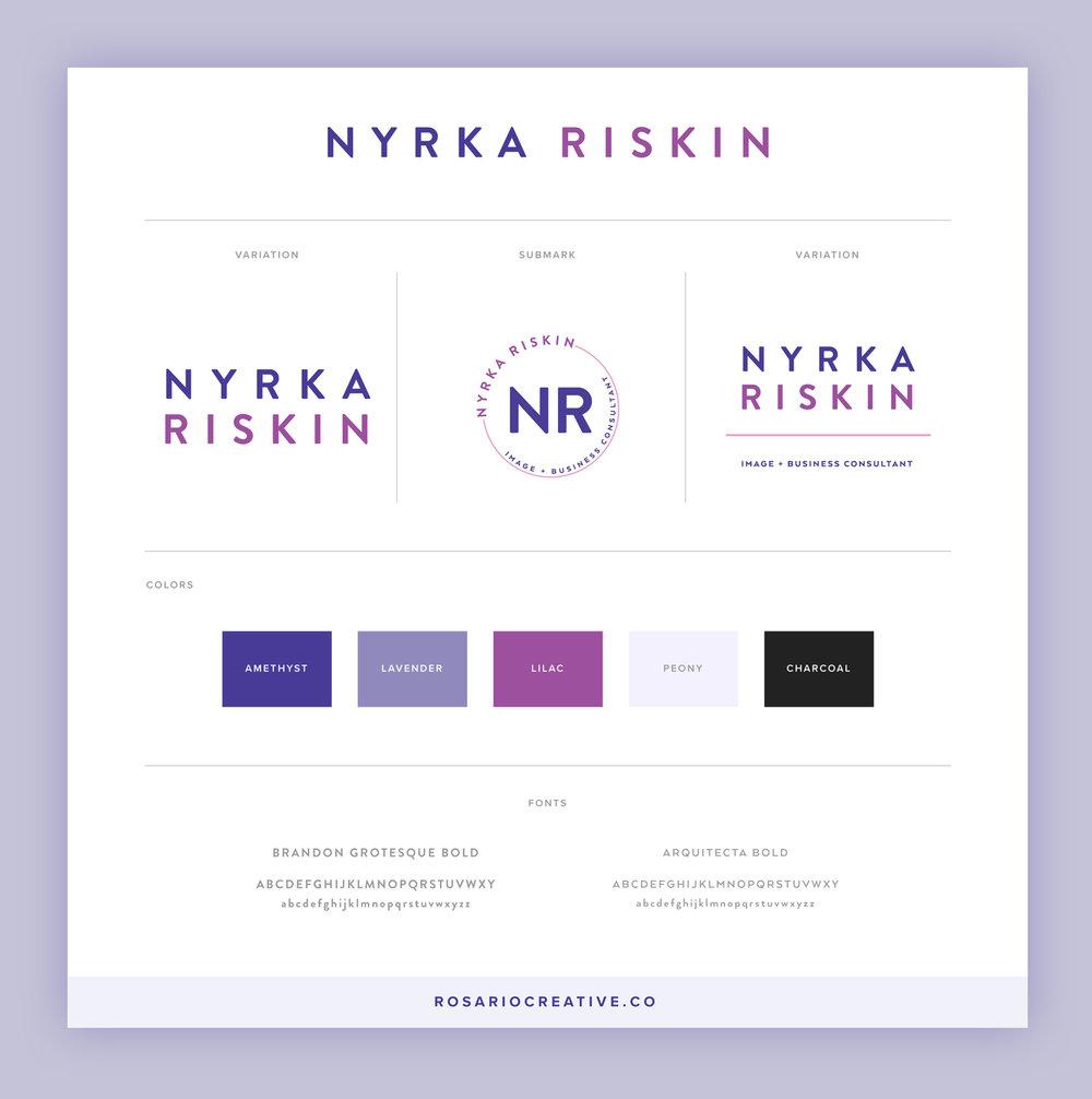 Nyrka Riskin Brand Logo Identity Profile