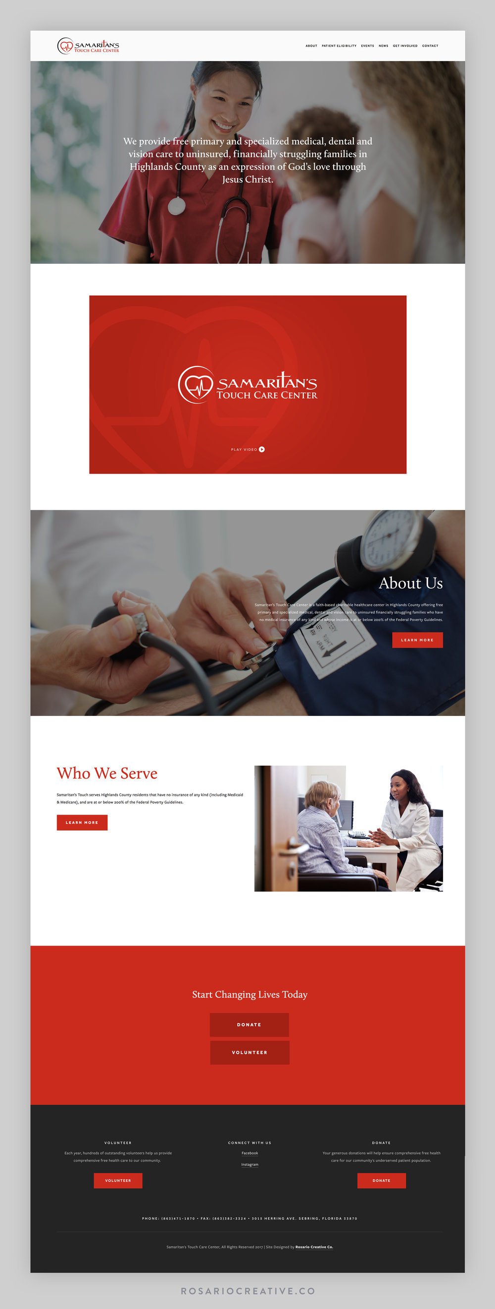 Samaritans Touch Website Design Homepage