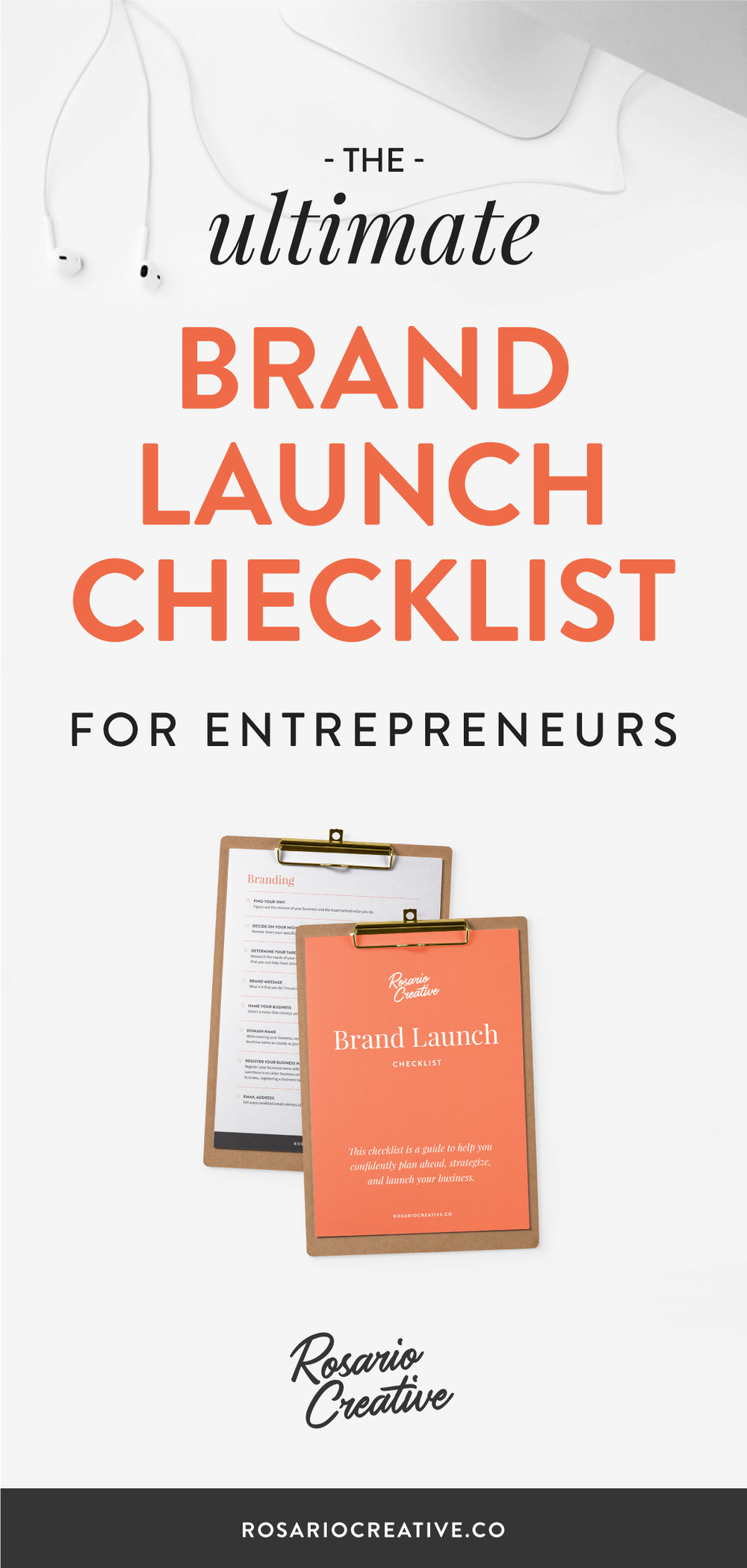 Ultimate Brand Launch Checklist for Entrepreneurs Free Download from Rosario Creative