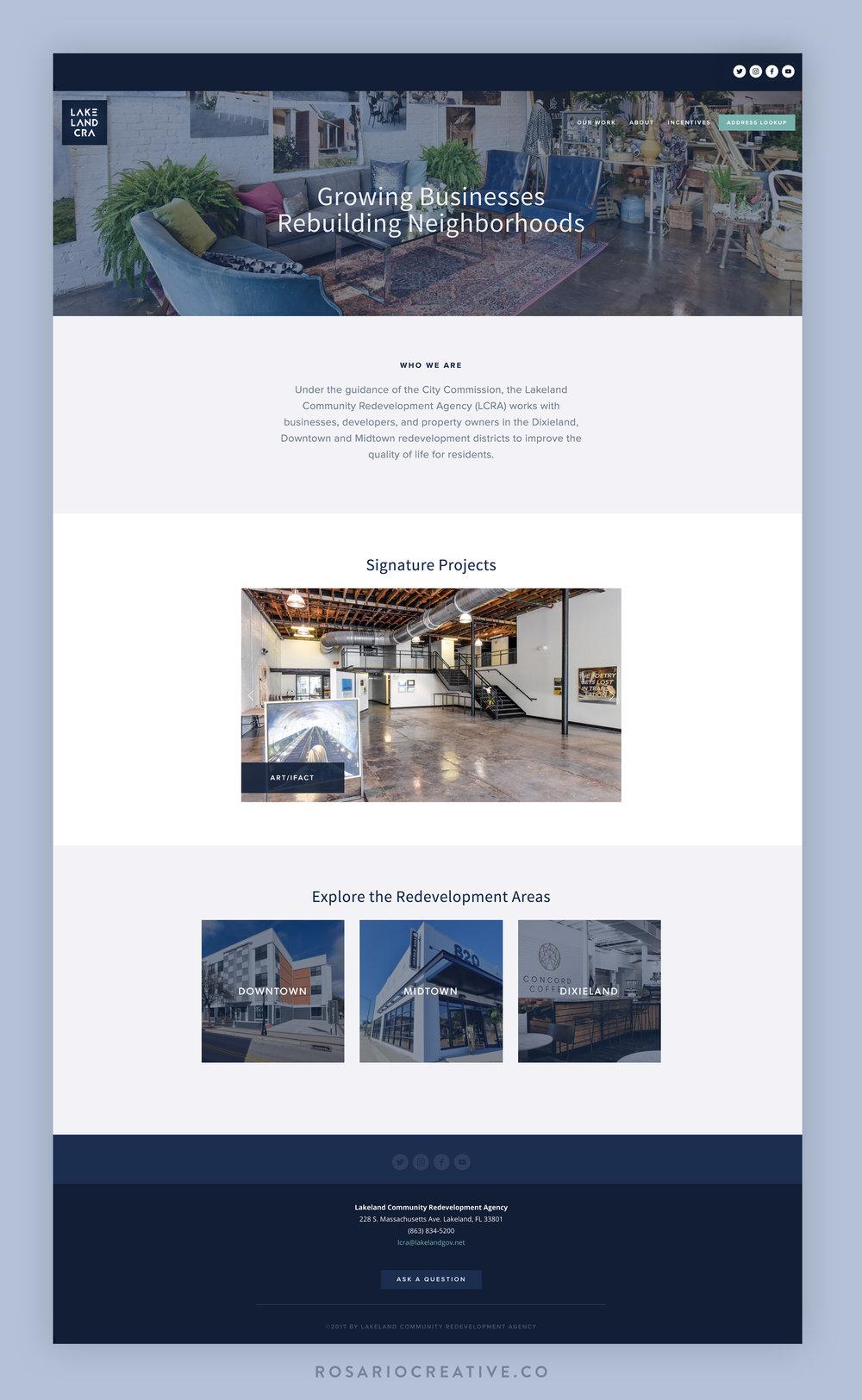 LCRA Website Design Homepage