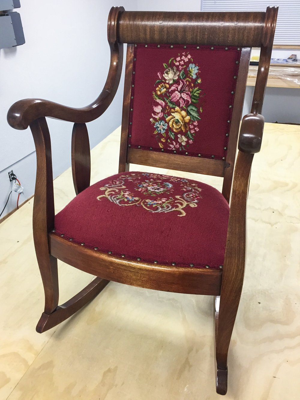 Hand Embroidered Chair
