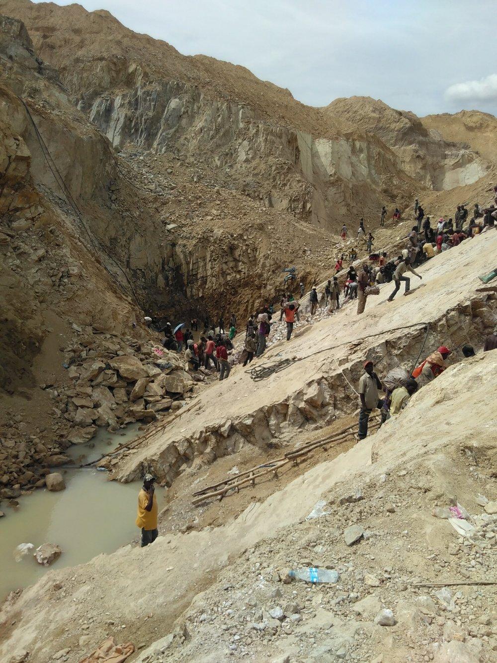 Gold mine in Bwanga, Tanzania