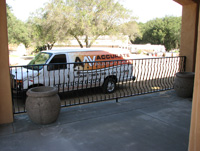 Railing and the AAV Van