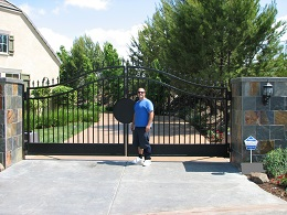 Custom Driveway Gate Installed