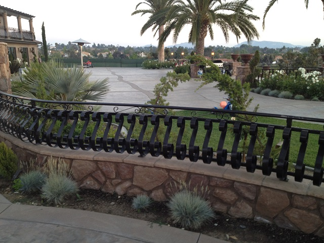 Custom Iron Fence on wall.jpg