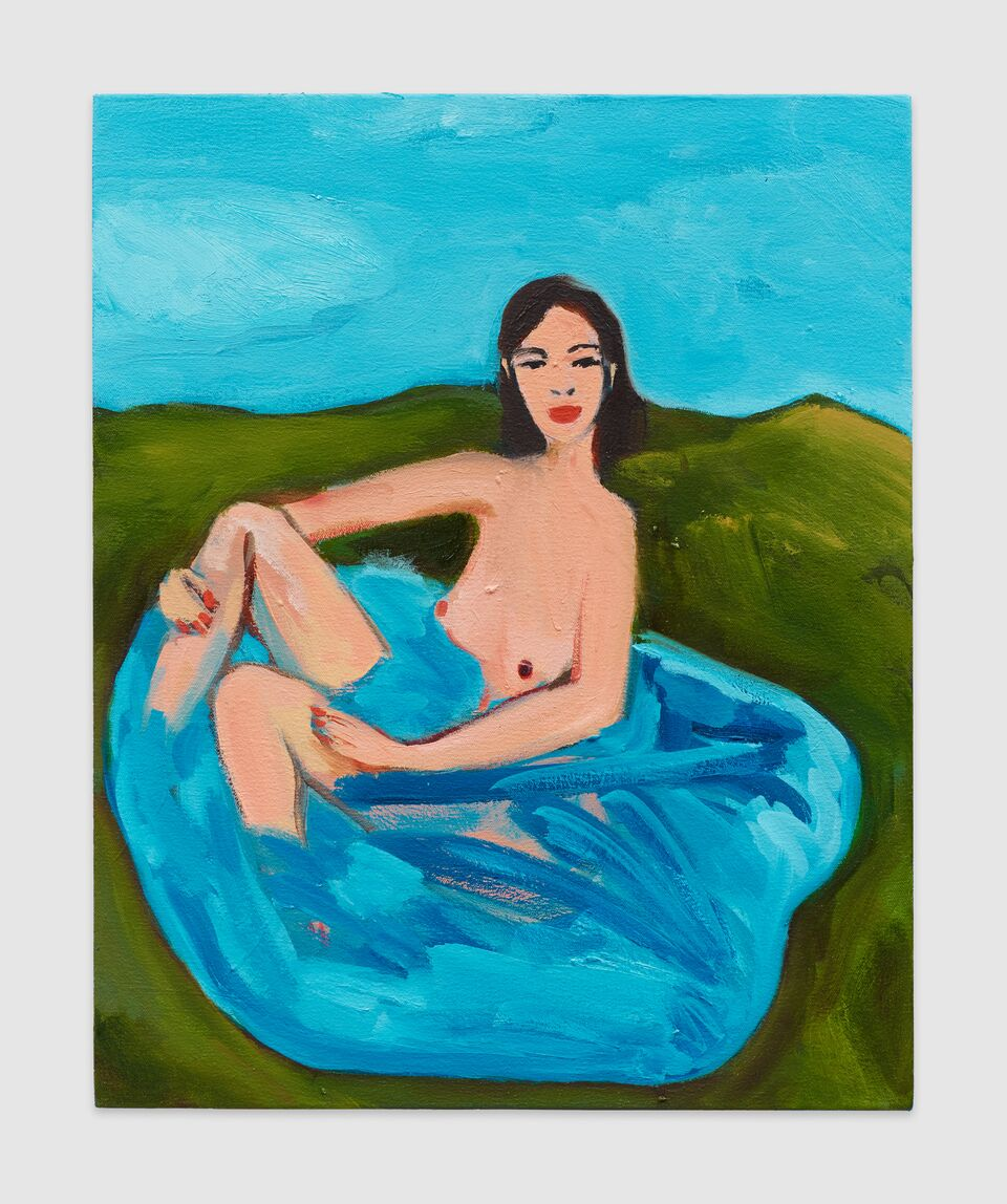 Becky Kolsrud, Allegorical Bather, 16x20, 2018