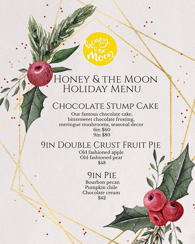 All I want for Christmas is pie and chocolate 🎄🎁 Email info@havethemoon.com for the sweetest part of the holidays! #havethemoon #holidays #local #iheartsonomavalley #stumpcake #yulelog #pie #iheartsonoma #mintandlibertydiner #bakery