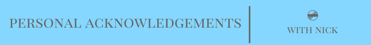 Personal Acknowledgements -