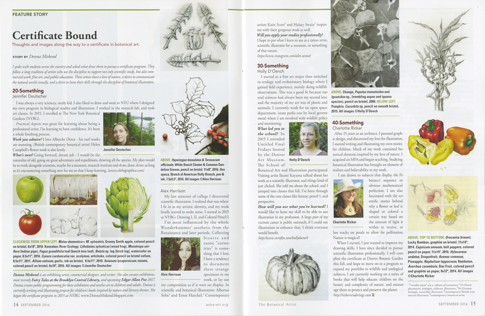 """Certificate Bound        "" - Article originally appeared in   The Botanical Artist   quarterly journal of the American Society of Botanical Artists, used with permission of ASBA, written by Donna Miskend.      To view the original article on the ASBA Website click here:       LINK    or visit:       www.asba-art.org"