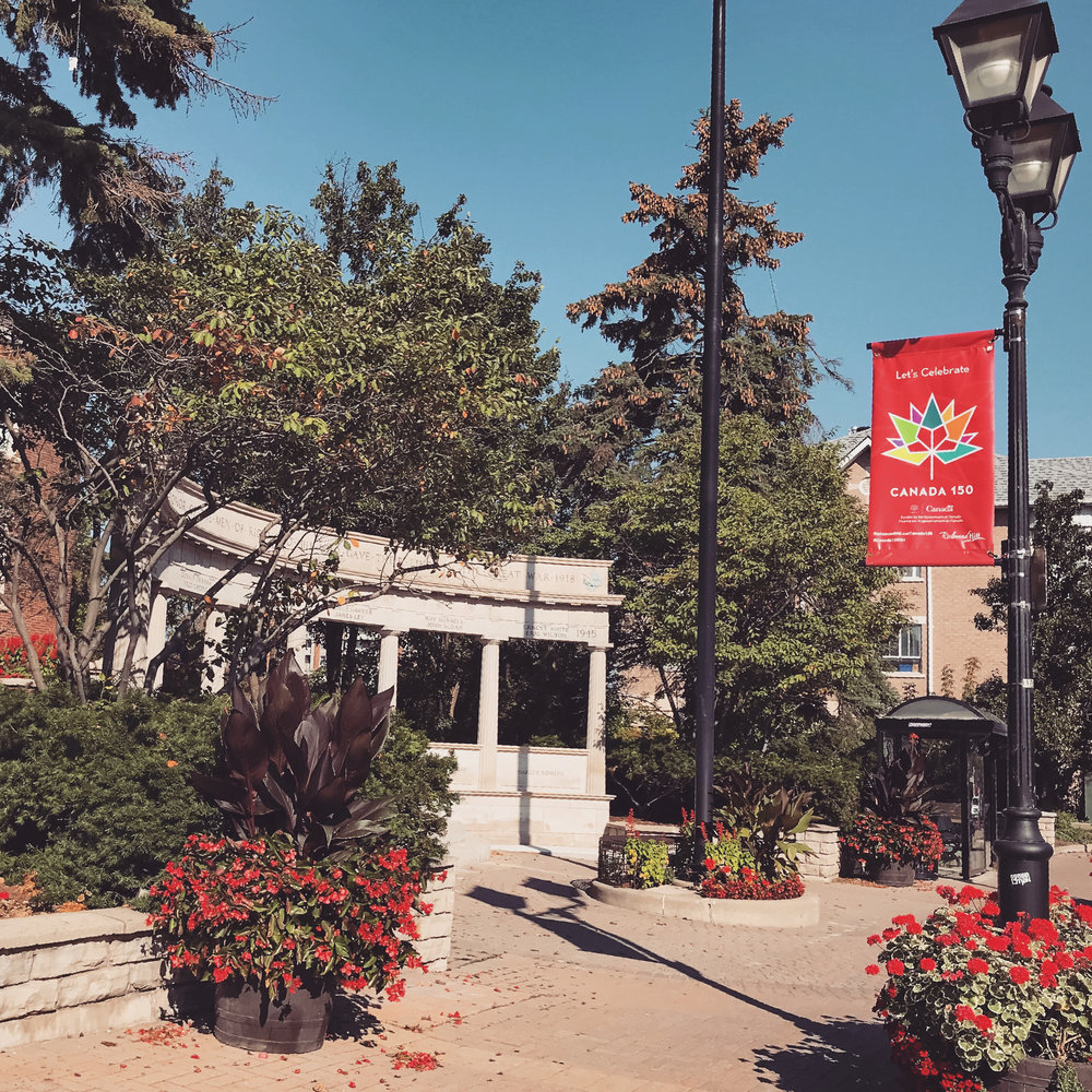 Toronto Branding Design Consultancy agency – Canada 150 Official Branding – Street Banner Design in downtown Richmond Hill, Ontario