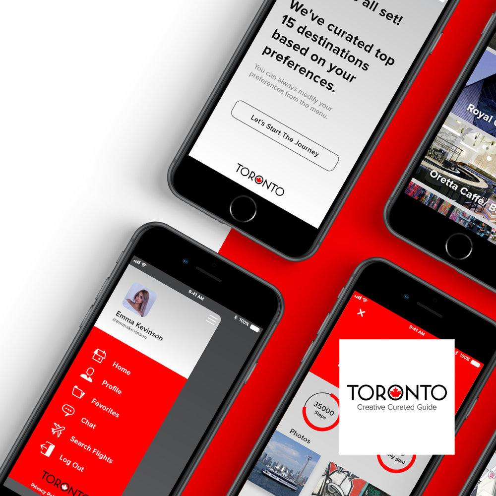 Toronto City Guide App - UI & UX