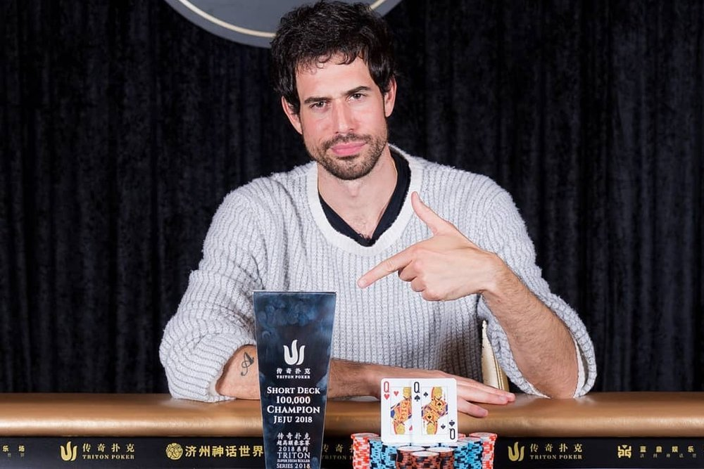 Nick Schulman  wins the $100K HKD Short Deck Tournament with the Faded Spade Ladies.   Photo: Danny Maxwell Photography.