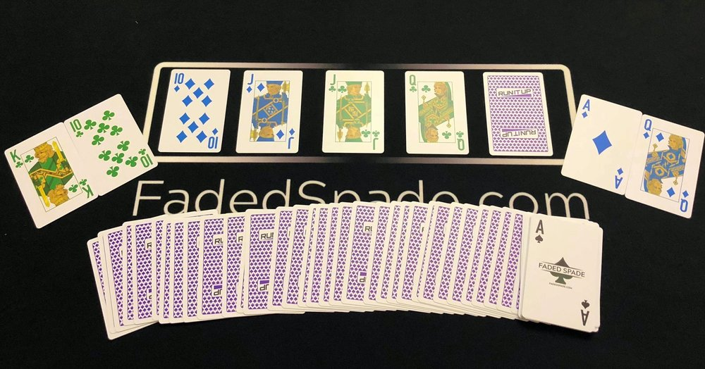 Faded Spade Run It Up Four-Color Poker Playing Cards