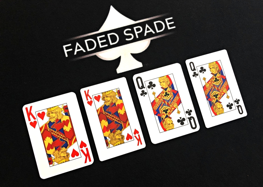 Faded Spade 100% Plastic Poker Size & Bridge Size Playing Cards