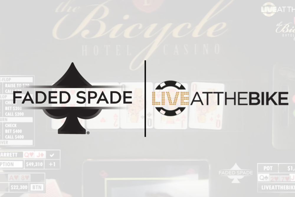 Faded Spade poker playing cards and Live at the Bike