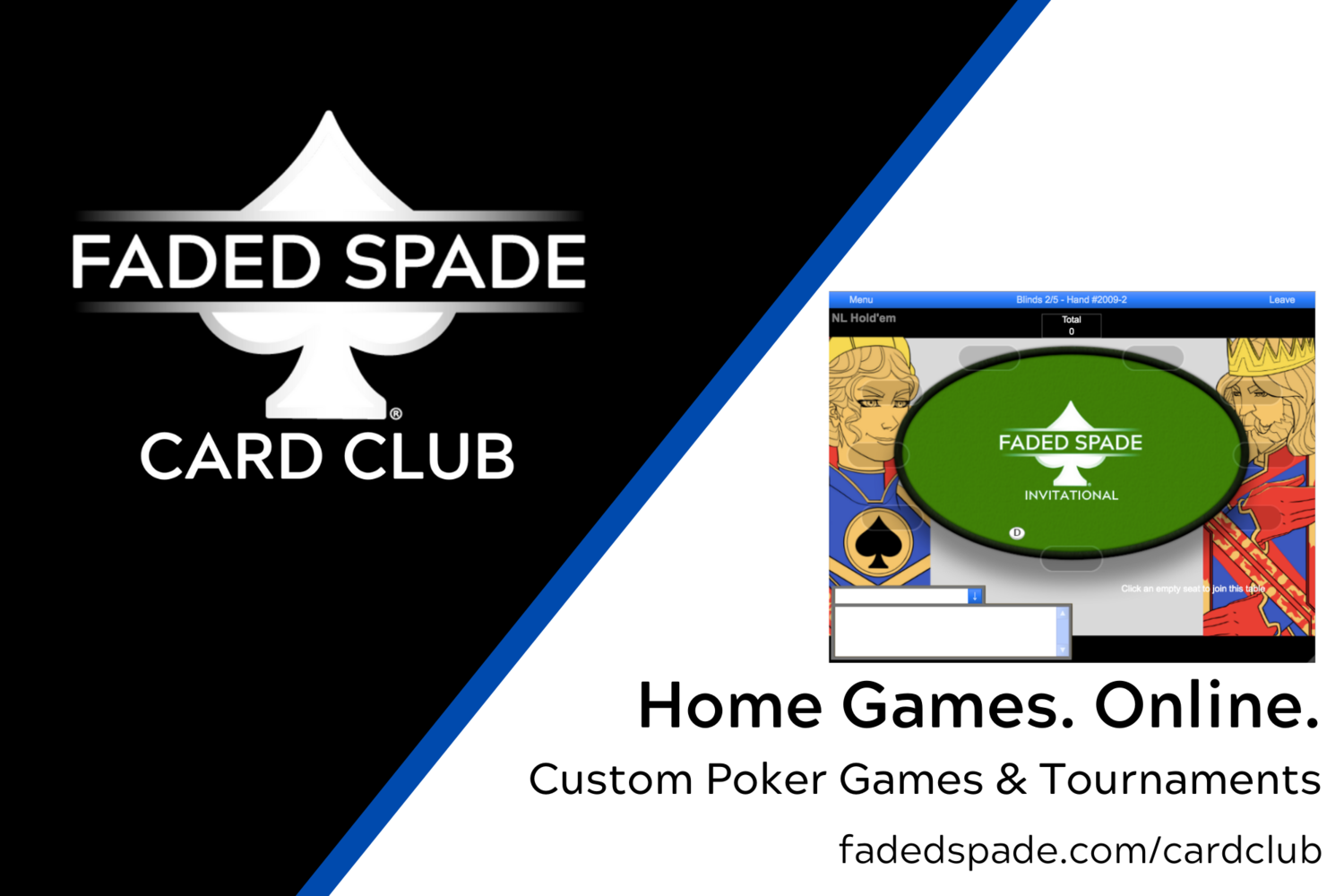 Introducing The Faded Spade Card Club Home Poker Games Online Faded Spade Virtual Poker 100 Plastic Poker Playing Cards The New Face Of Cards