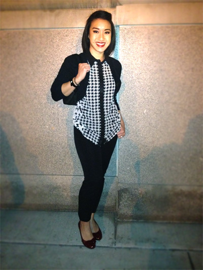 houndstooth-blouse-black-pants